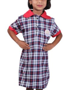 KV Uniforms - Girls Frock (1st and 2nd STD) Online - Vastra